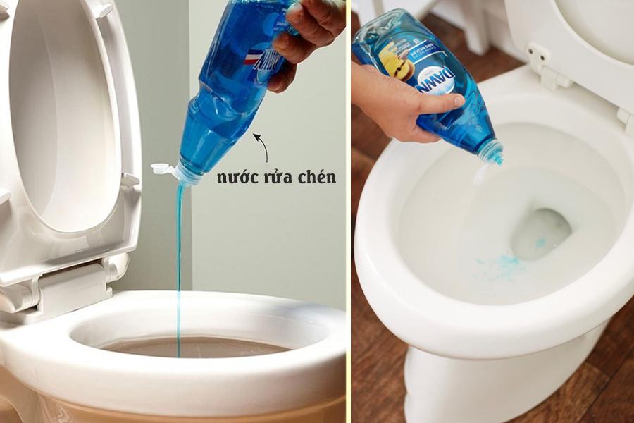 Sử dụng nước rửa chén