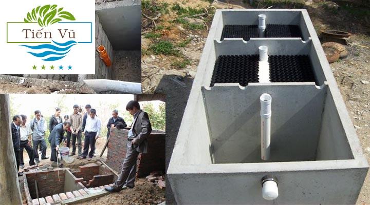 cách lắp đặt ống thoát nước trong bể phốt
