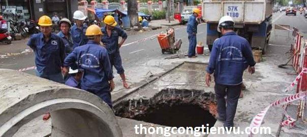 Dịch vụ thông cống nghẹt huyện bình chánh