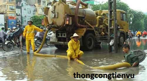 Dịch vụ thông cống nghẹt quận tân phú